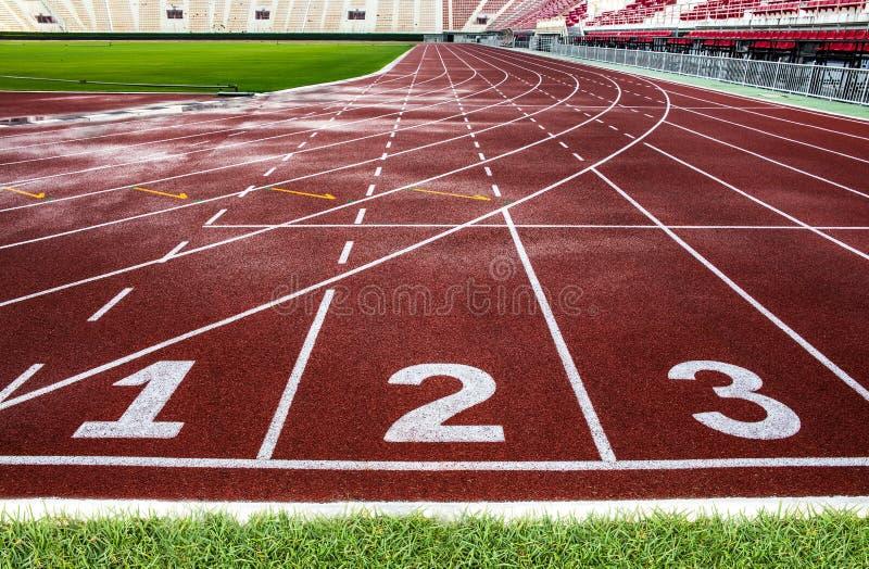 Textura da pista de atletismo para o fundo. fotografia de stock