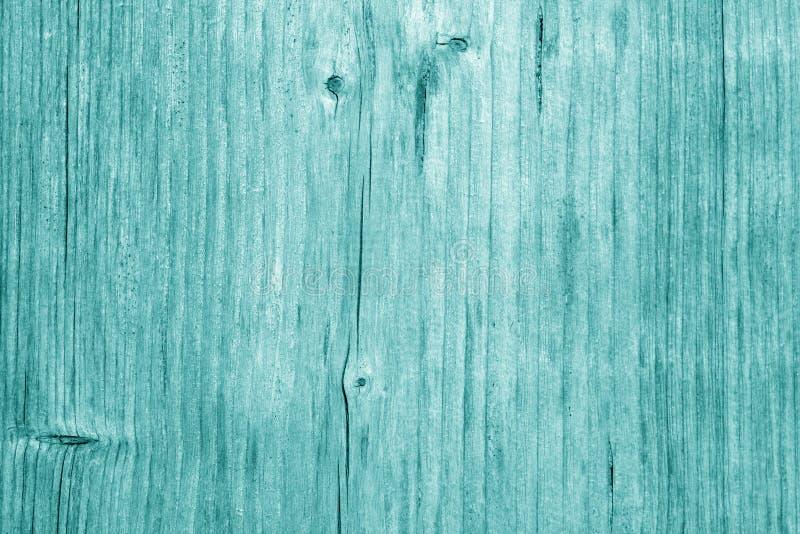 Textura da placa de madeira no tom ciano fotografia de stock