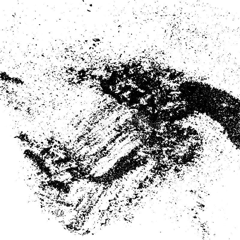 Textura da poeira da tinta para seu projeto Teste padrão do pó do Grunge Fundo feito a mão do vetor Contexto com efeito da textur ilustração do vetor