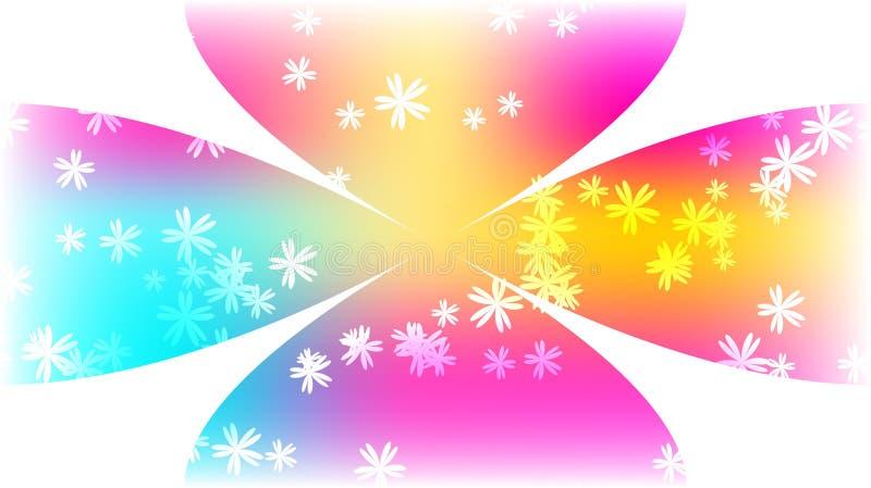 A textura da roda heterogêneo cor-de-rosa azul brilhante longe colorida multi-colorida mágica cósmica circular festiva bonita flo ilustração do vetor