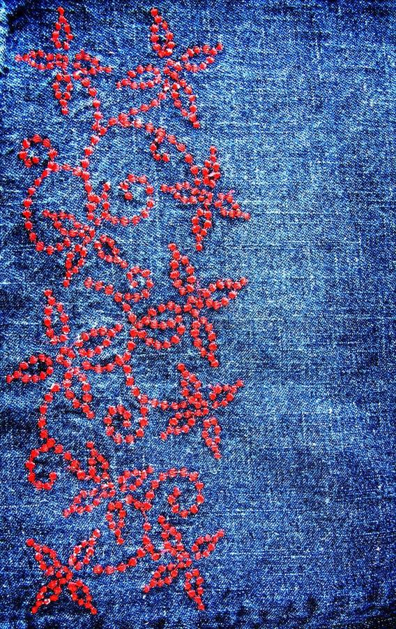 Download Textura Da Sarja De Nimes Do Vintage Imagem de Stock - Imagem de pano, grampo: 16861907