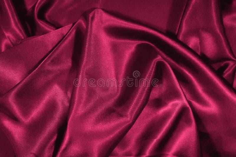 Textura da seda vermelha do cetim fotos de stock