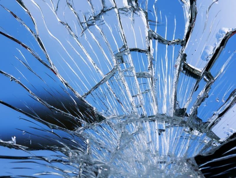 Textura da superfície azul brilhante do espelho com quebras pequenas e grandes imagens de stock royalty free