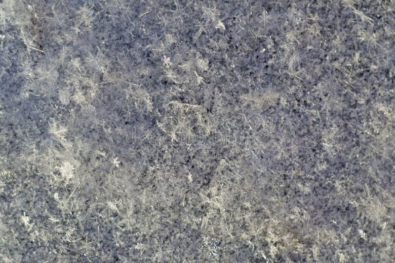 A textura da superf?cie da neve imagens de stock royalty free