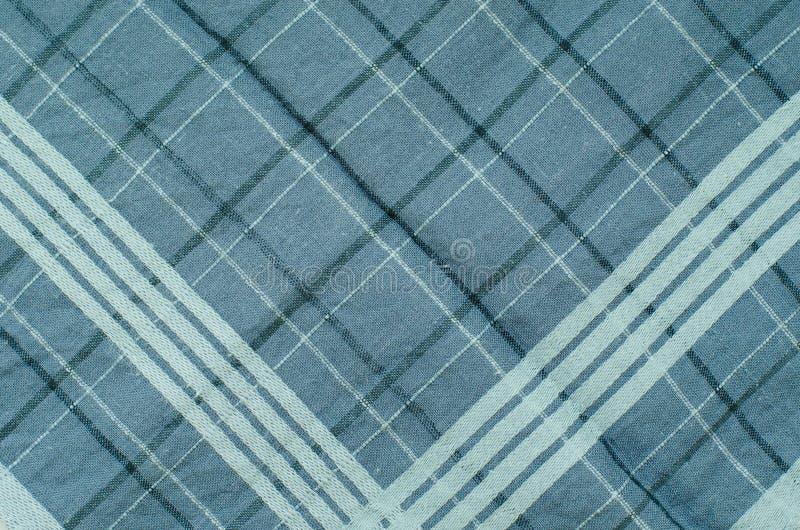 Textura da tela azul do guingão foto de stock royalty free