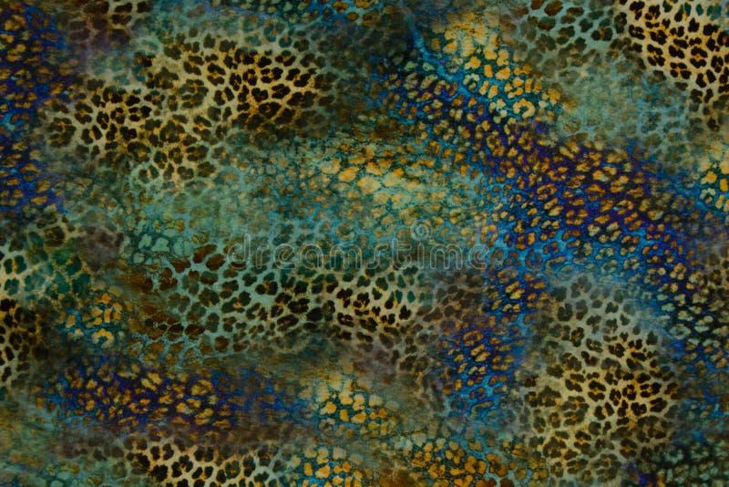 A textura da tela da cópia listra o leopardo para o fundo foto de stock