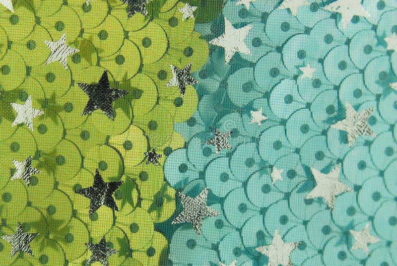 Textura da tela da escala e das estrelas de peixes fotografia de stock royalty free