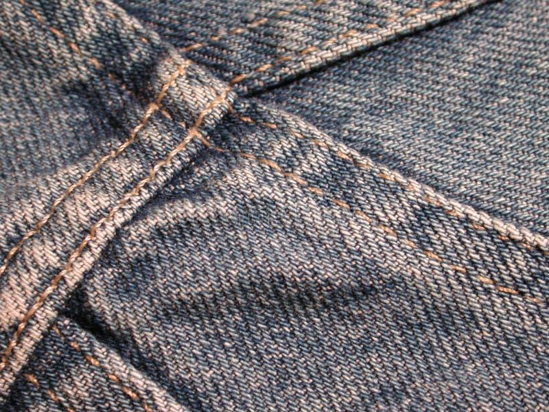 Textura da tela das calças de brim da sarja de Nimes imagens de stock