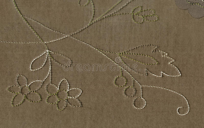 Textura da tela de seda com um teste padrão desproporcionado da linha do visitim do ornamento floral O estilo vitoriano da arte d fotos de stock
