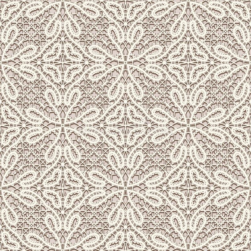 Textura da tela do laço do vintage, teste padrão sem emenda ilustração royalty free