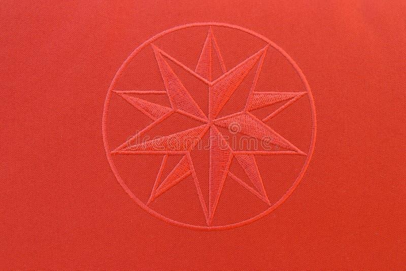 Textura da tela - estrela vermelha foto de stock