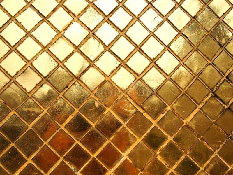 Textura da telha de mosaico do ouro fotos de stock