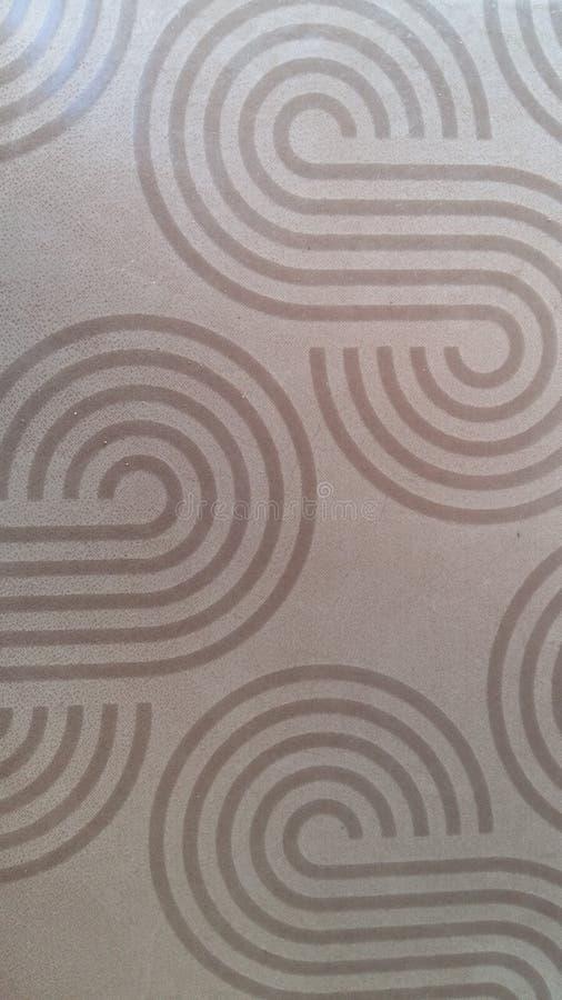 Textura da toalha de mesa de Brown, teste padrão da filigrana, listras imagens de stock