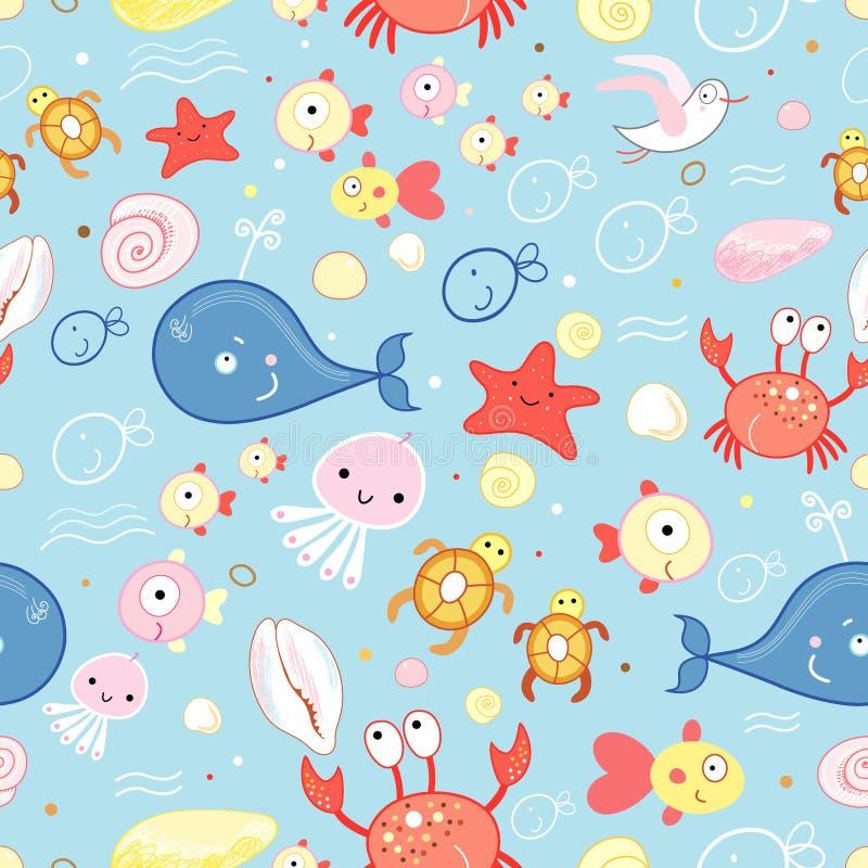 Textura da vida marinha ilustração do vetor