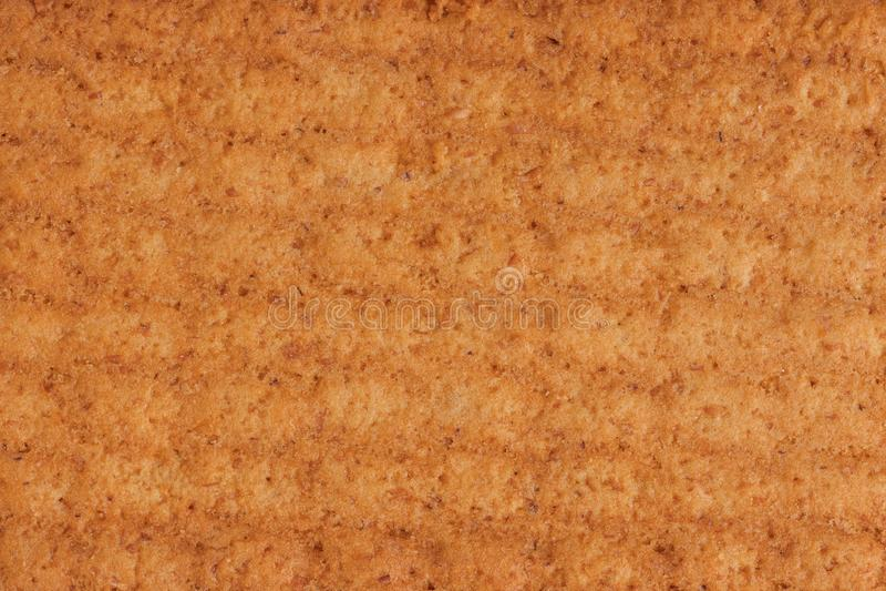 Textura das cookies cozidas perto do macro imagens de stock royalty free
