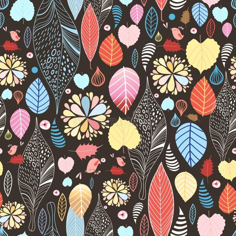 Textura das folhas de outono ilustração royalty free