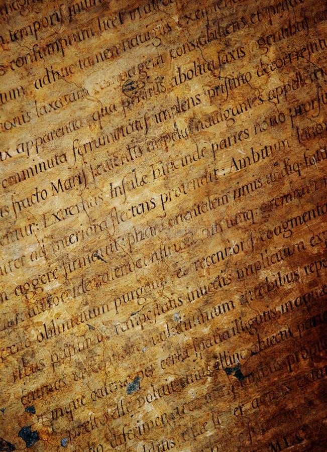 Textura das letras Latin fotografia de stock