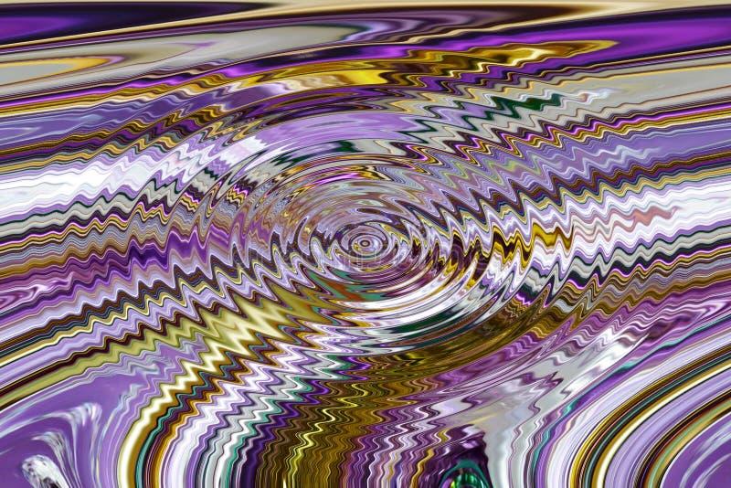 A textura das listras multi-coloridas, com linhas curvadas ilustração royalty free