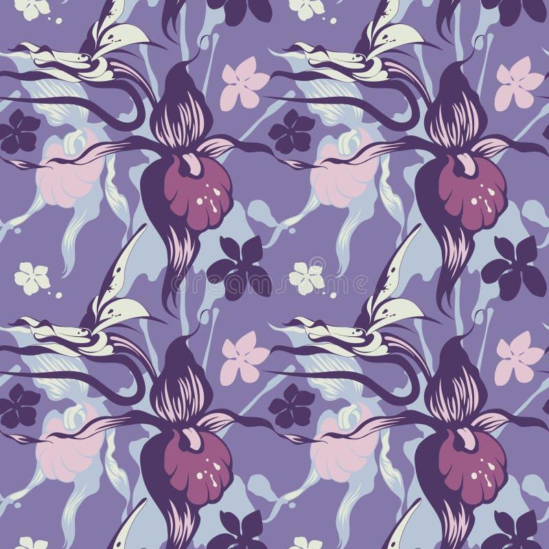 Textura das orquídeas azuis ilustração do vetor