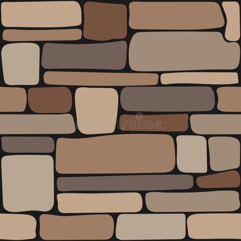 Textura das pedras Parede de pedra sem emenda, textura do fundo do tijolo ilustração royalty free