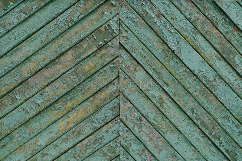 Textura das placas de madeira do vintage velho pintadas em ciano imagem de stock