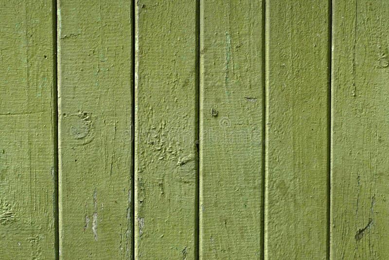 Textura das placas de madeira do vintage velho pintadas no verde foto de stock