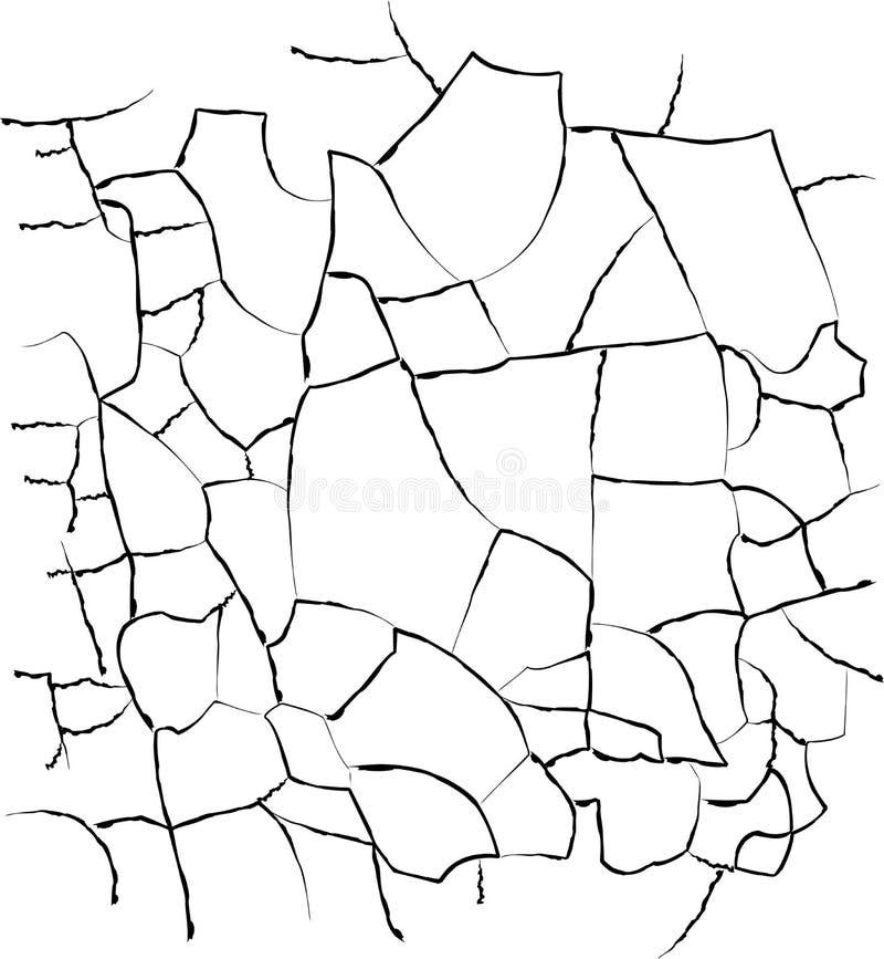 Textura das quebras ilustração stock
