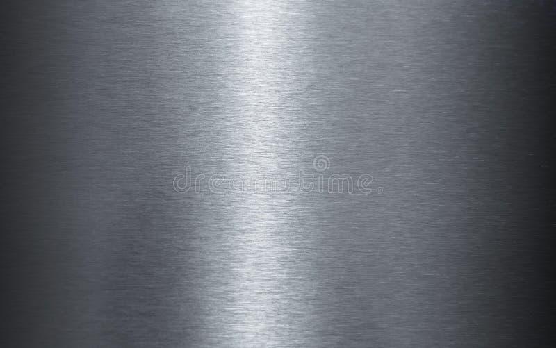 Textura de aço inoxidável lustrada da folha foto de stock