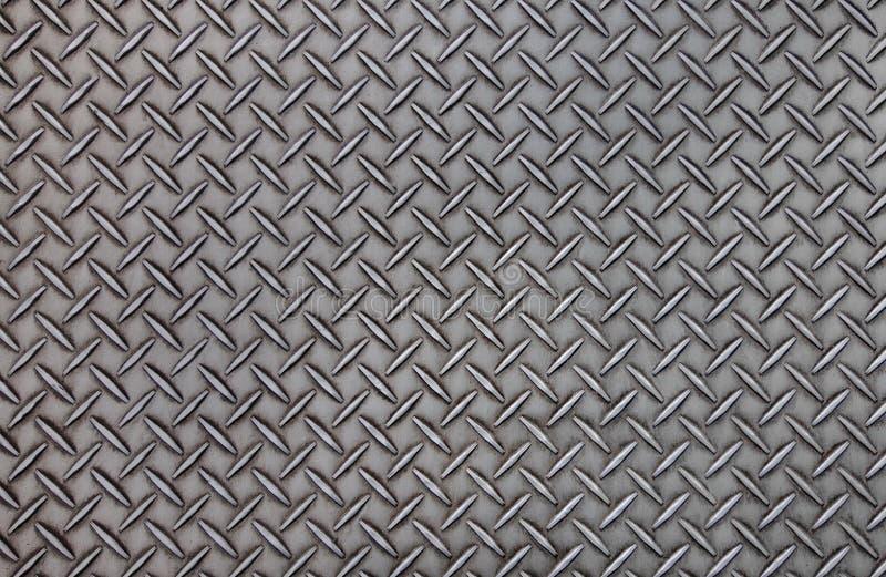 Textura de aço velha do fundo do teste padrão da placa do diamante imagens de stock royalty free