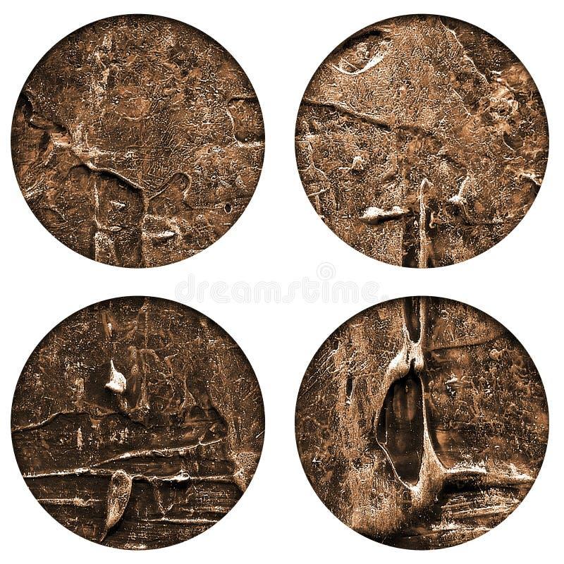Textura de acrílico pintada a mano abstracta de los círculos fotos de archivo libres de regalías