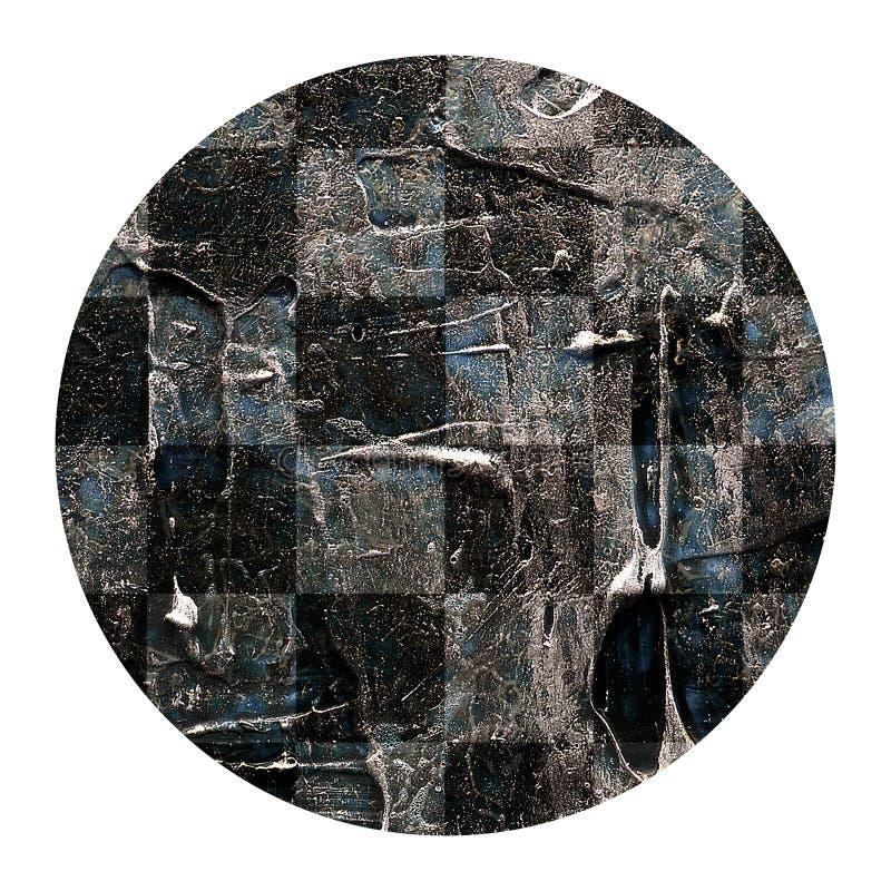 Textura de acrílico pintada a mano abstracta del ajedrez del círculo libre illustration