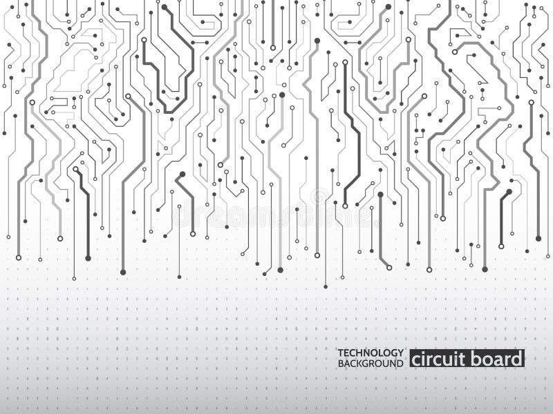 Textura de alta tecnología del fondo de la tecnología ilustración del vector