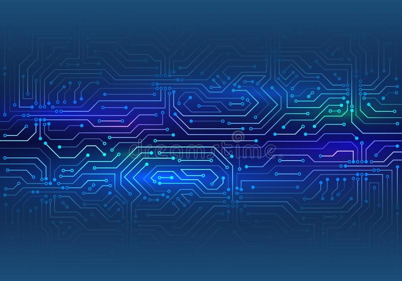 Textura de alta tecnolog?a del fondo de la tecnolog?a Ejemplo del vector de la placa de circuito libre illustration