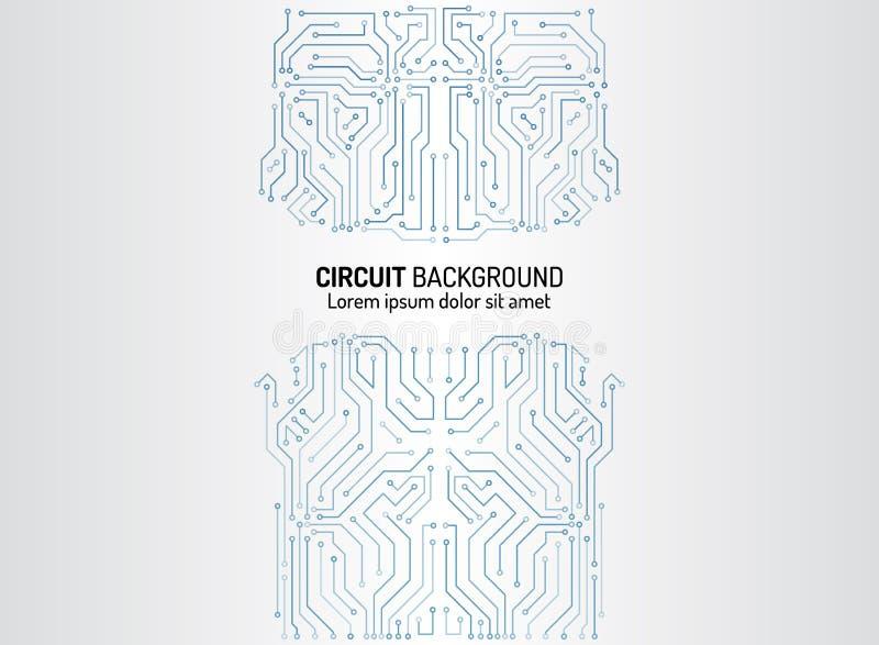 Textura de alta tecnolog?a del fondo de la tecnolog?a Modelo mínimo de la placa de circuito ilustración del vector