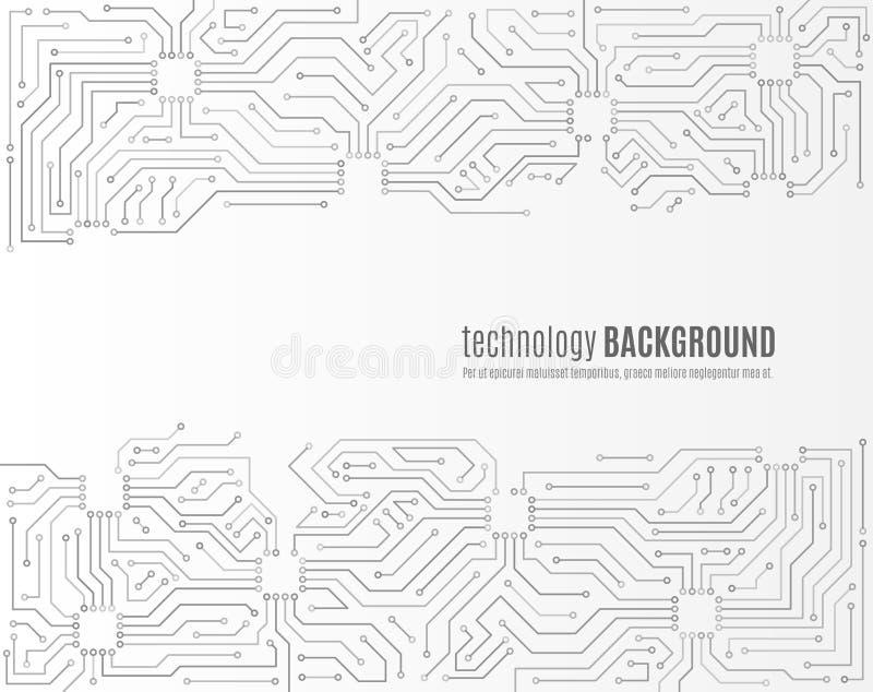 Textura de alta tecnolog?a del fondo de la tecnolog?a Modelo mínimo de la placa de circuito libre illustration