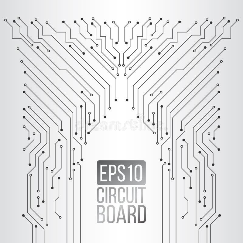 Textura de alta tecnolog?a del fondo de la tecnolog?a Modelo mínimo de la placa de circuito stock de ilustración