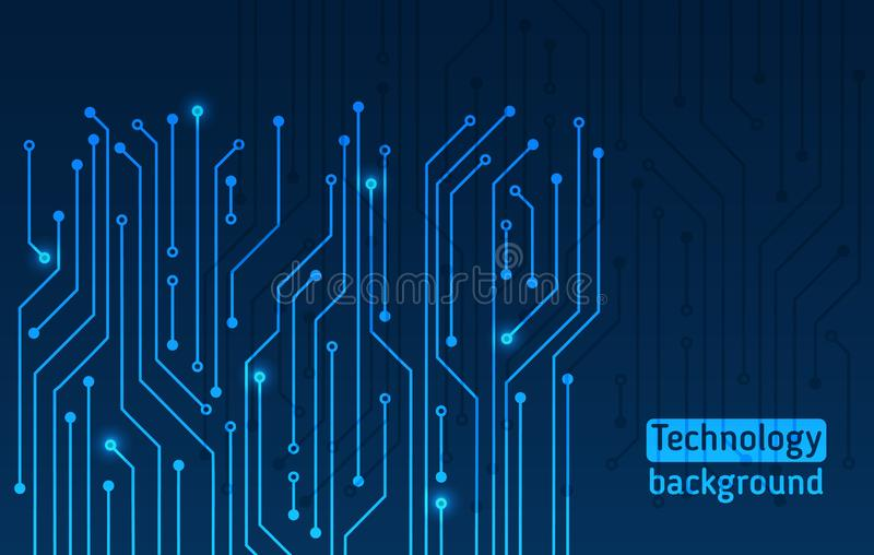 Textura de alta tecnolog?a del fondo de la tecnolog?a ilustración del vector