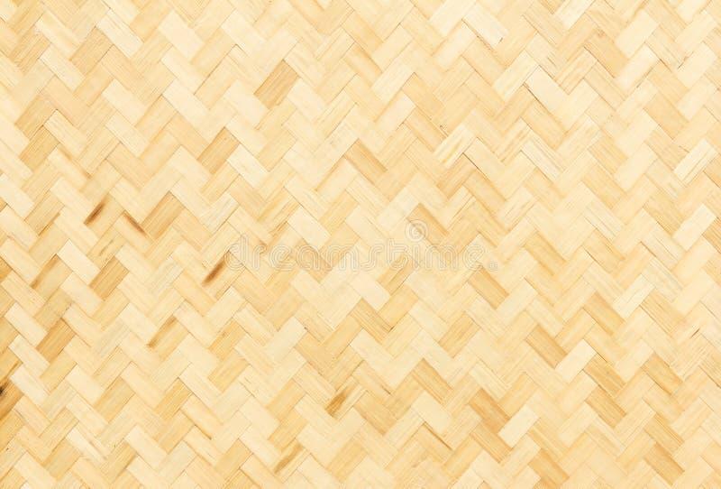 Textura de bambu do weave foto de stock