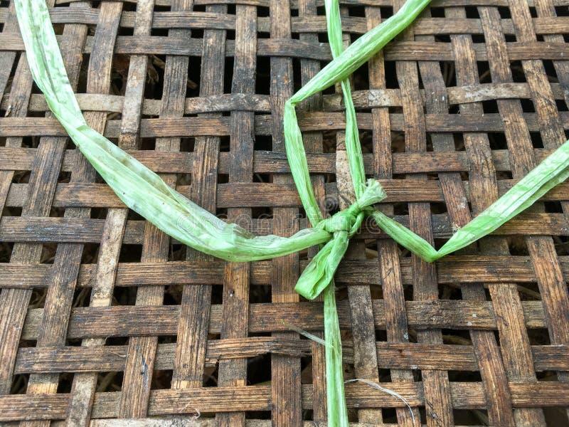 Textura de bambu tecida do teste padrão imagem de stock royalty free