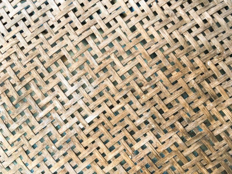 Textura de bambu tecida do teste padrão imagem de stock
