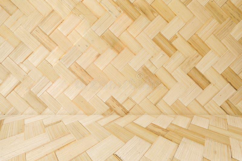 Textura de bambu tecida do teste padr?o imagem de stock