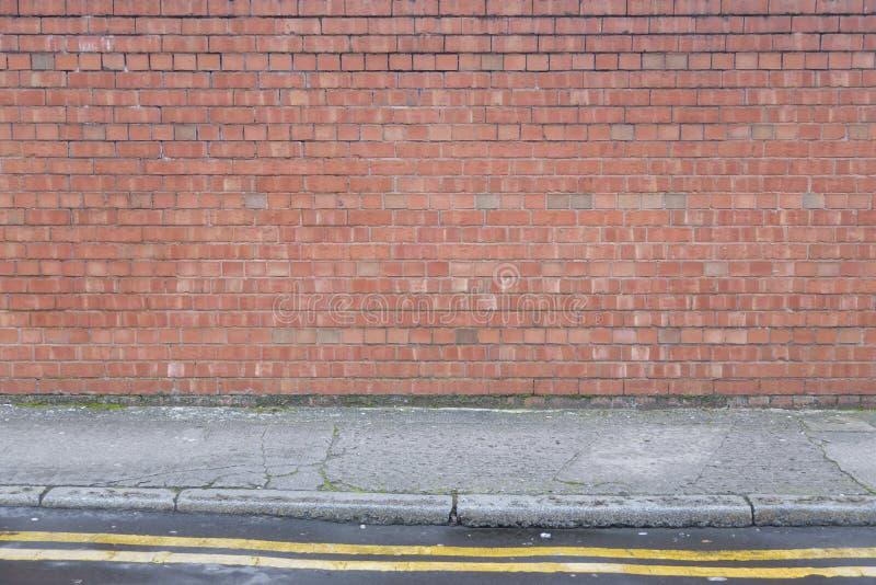 Textura de Brickwall com terra foto de stock