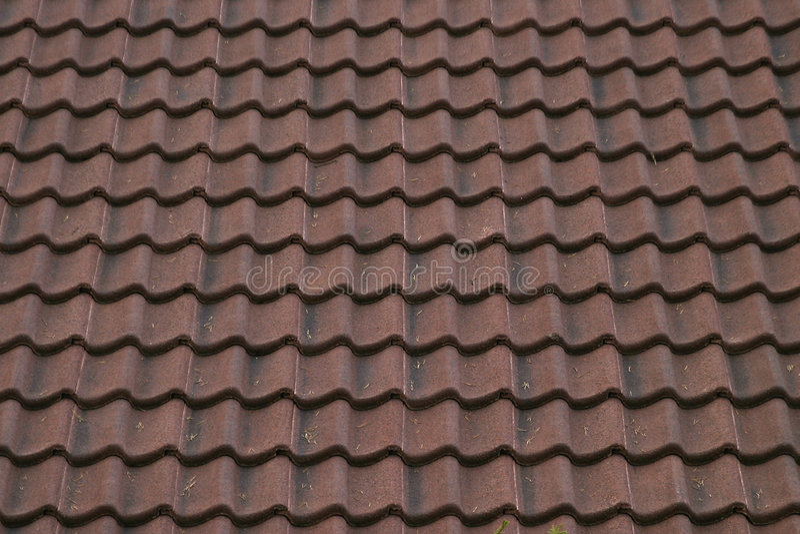 Textura de cerámica de la azotea fotos de archivo