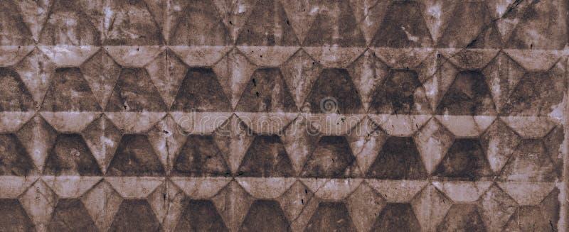 Textura de claro - a cerca concreta velha marrom com arrasta e racha-se Papel de parede para o projeto imagens de stock royalty free