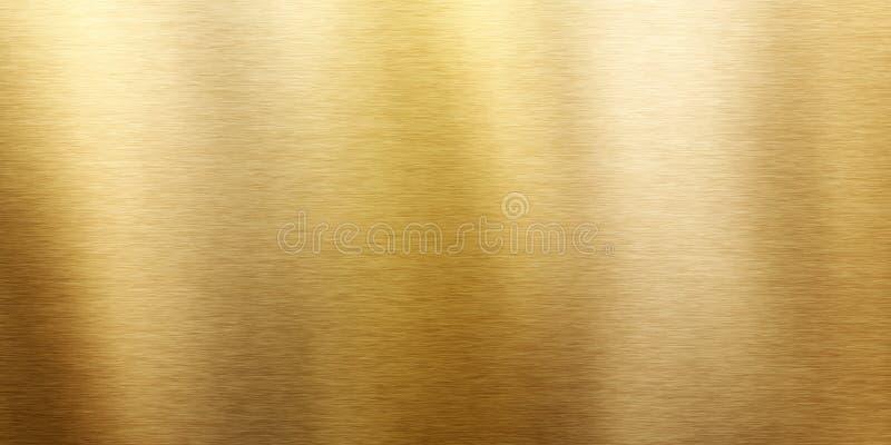 textura de cobre amarillo cepillada ilustración del vector