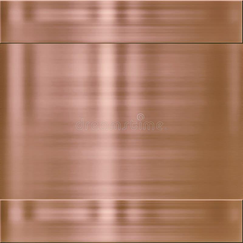 Textura de cobre do fundo do metal ilustração do vetor