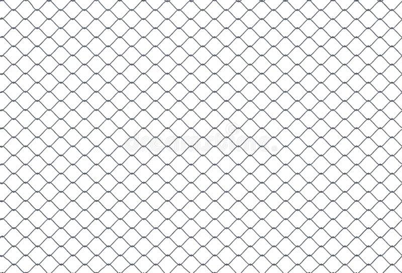 Textura de colocación inconsútil de la cerca metálica de la alambrada en el fondo blanco 3D rindió la ilustración libre illustration