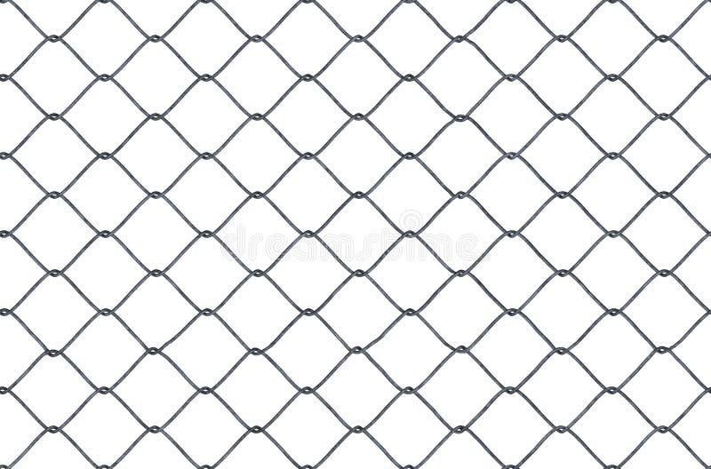 Textura de colocación inconsútil de la cerca metálica de la alambrada en el fondo blanco 3D rindió la ilustración ilustración del vector