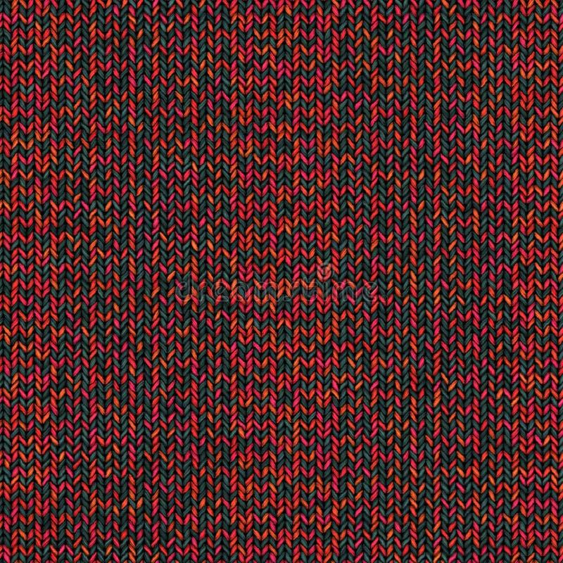 Textura de confecção de malhas colorida abstrata Fundo sem emenda para o projeto ilustração royalty free