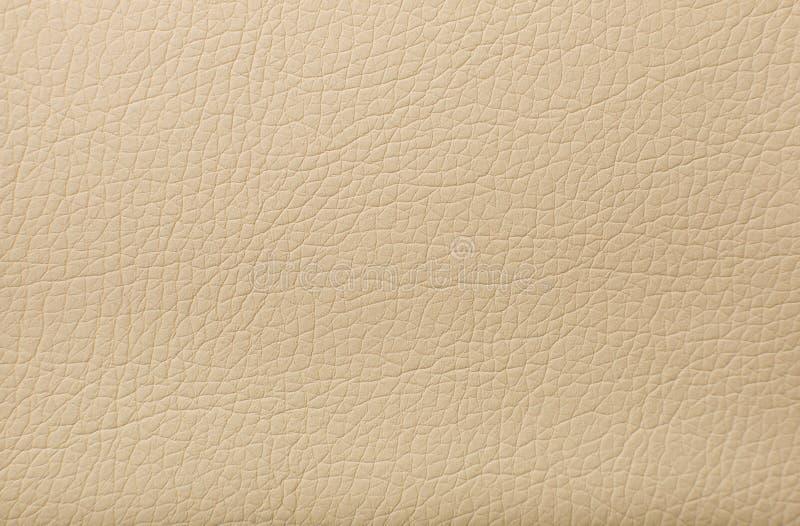Textura de couro bege macia com a cópia como o fundo fotos de stock royalty free